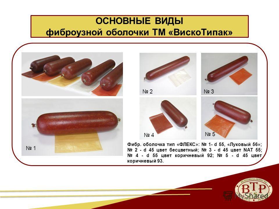 28 ОСНОВНЫЕ ВИДЫ фиброузной оболочки ТМ «Виско Типак» Фибр. оболочка тип «ФЛЕКС»: 1- d 55, «Луковый 56»; 2 - d 45 цвет бесцветный; 3 - d 45 цвет NAT 55; 4 - d 55 цвет коричневый 92; 5 - d 45 цвет коричневый 93. 1 2 3 4 5