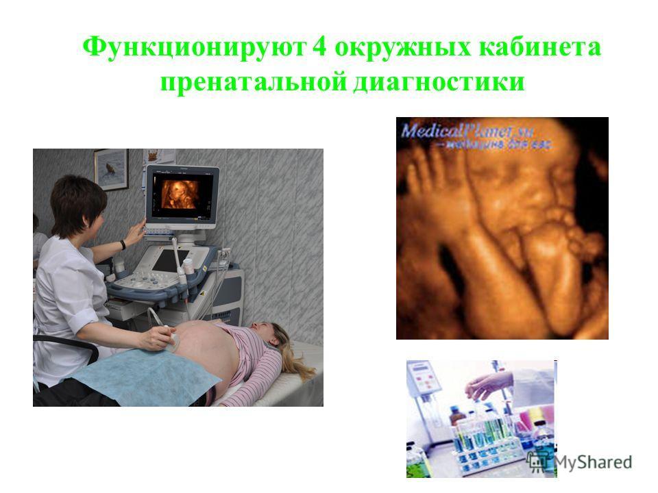 Функционируют 4 окружных кабинета пренатальной диагностики