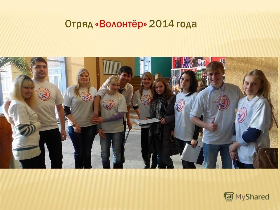Отряд «Волонтёр» 2014 года