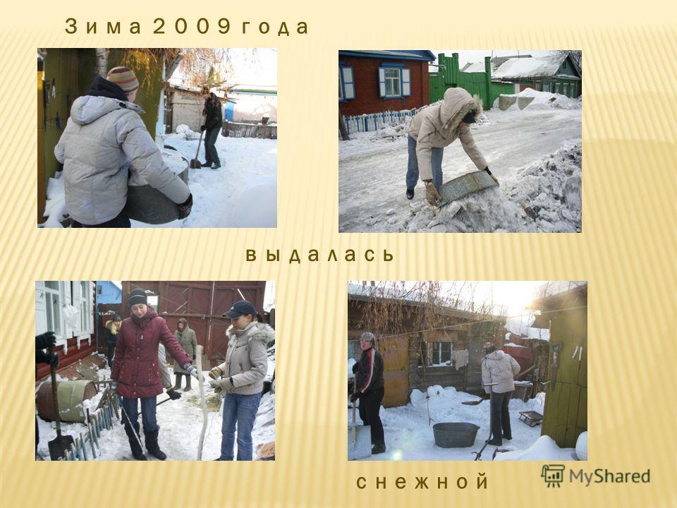 Зима 2009 года выдалась снежной