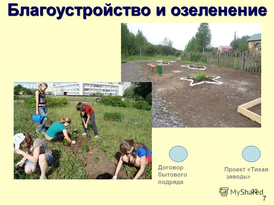 32 7 Благоустройство и озеленение Проект «Тихая заводь» Договор бытового подряда