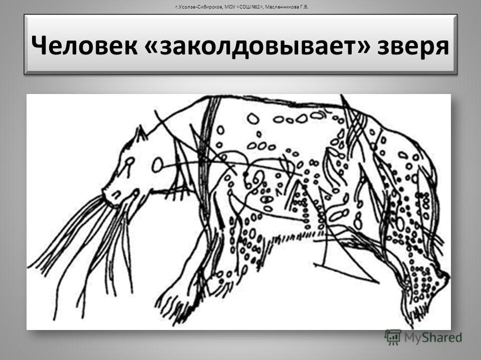 Человек «заколдовывает» зверя г.Усолье-Сибирское, МОУ «СОШ 2», Масленникова Г.В.