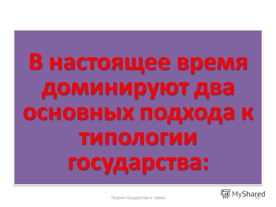 В соответствии с этим была основана на трактовке классового подхода Теория государства и права 31 типология государства