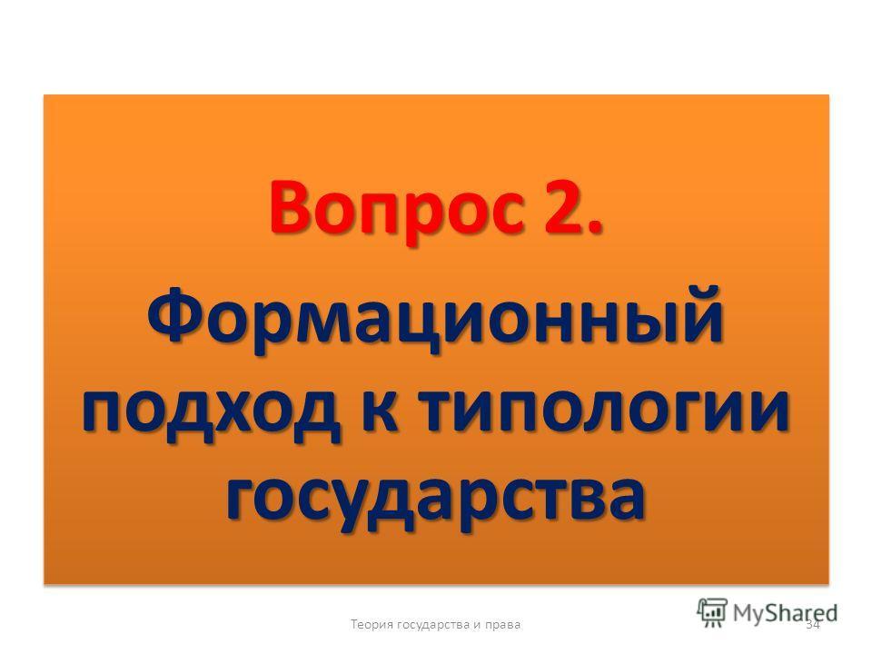 Типология государства проводится с позиций двух подходов Теория государства и права 33 Формационный Цивилизационный