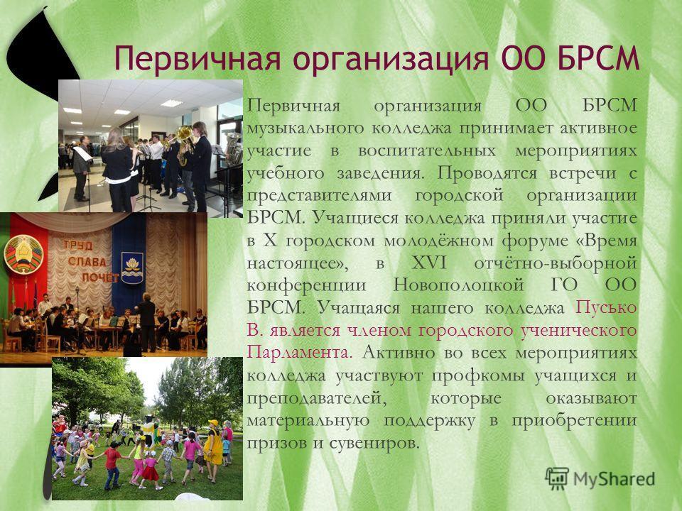 Первичная организация ОО БРСМ