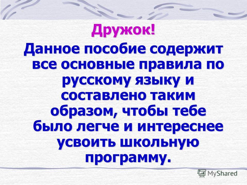 ЗНАЙКАЗНАЙКА Правила по русскому языку для начальных классов