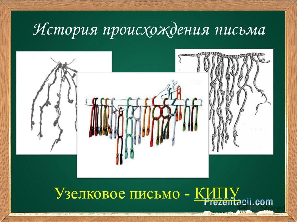 История происхождения письма Узелковое письмо - КИПУ