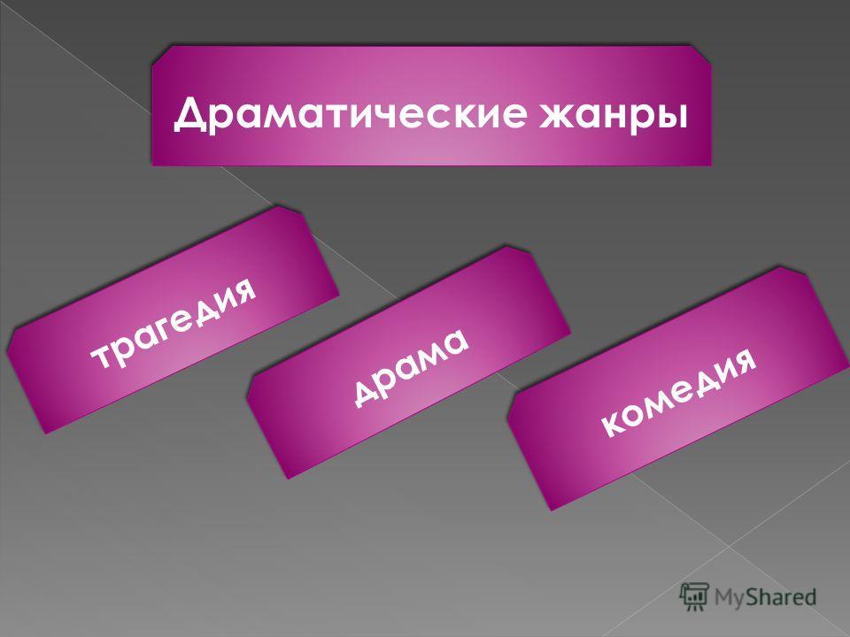Драматические жанры драма комедия трагедия