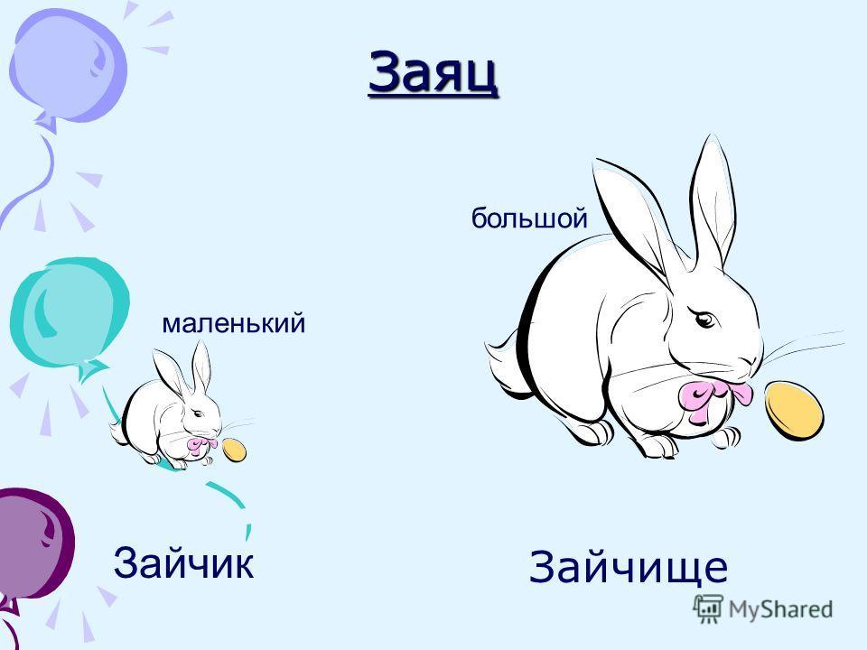 Заяц Зайчище Зайчик маленький большой
