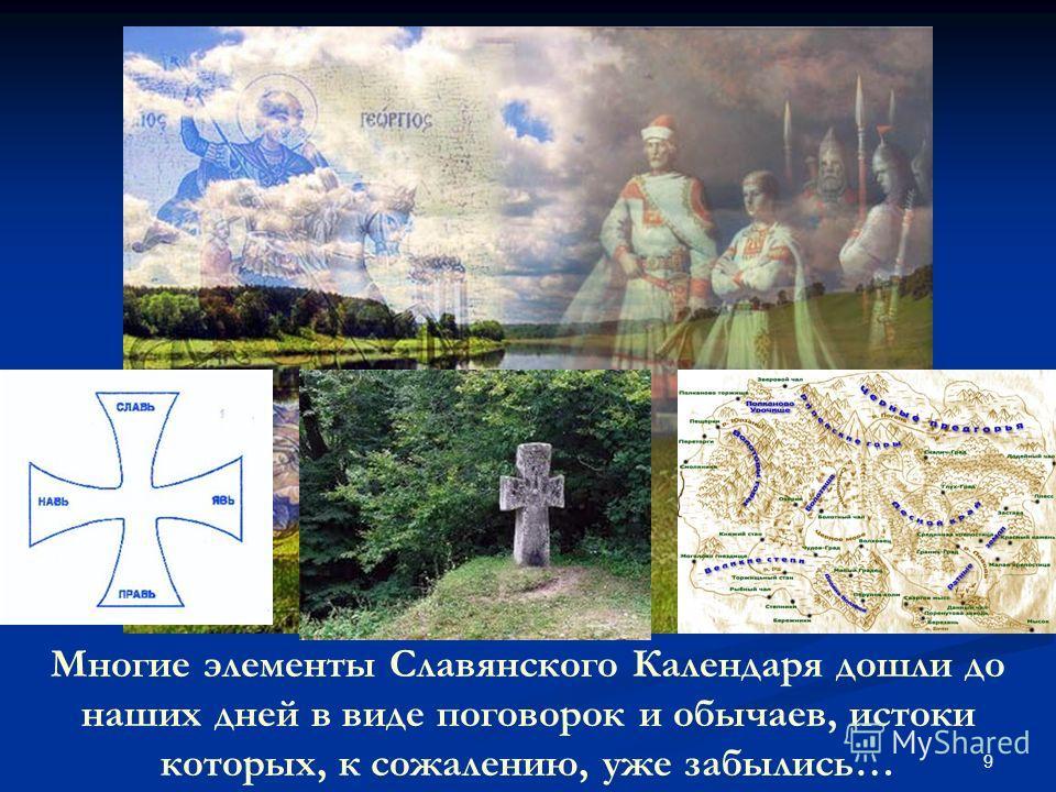 9 Многие элементы Славянского Календаря дошли до наших дней в виде поговорок и обычаев, истоки которых, к сожалению, уже забылись…