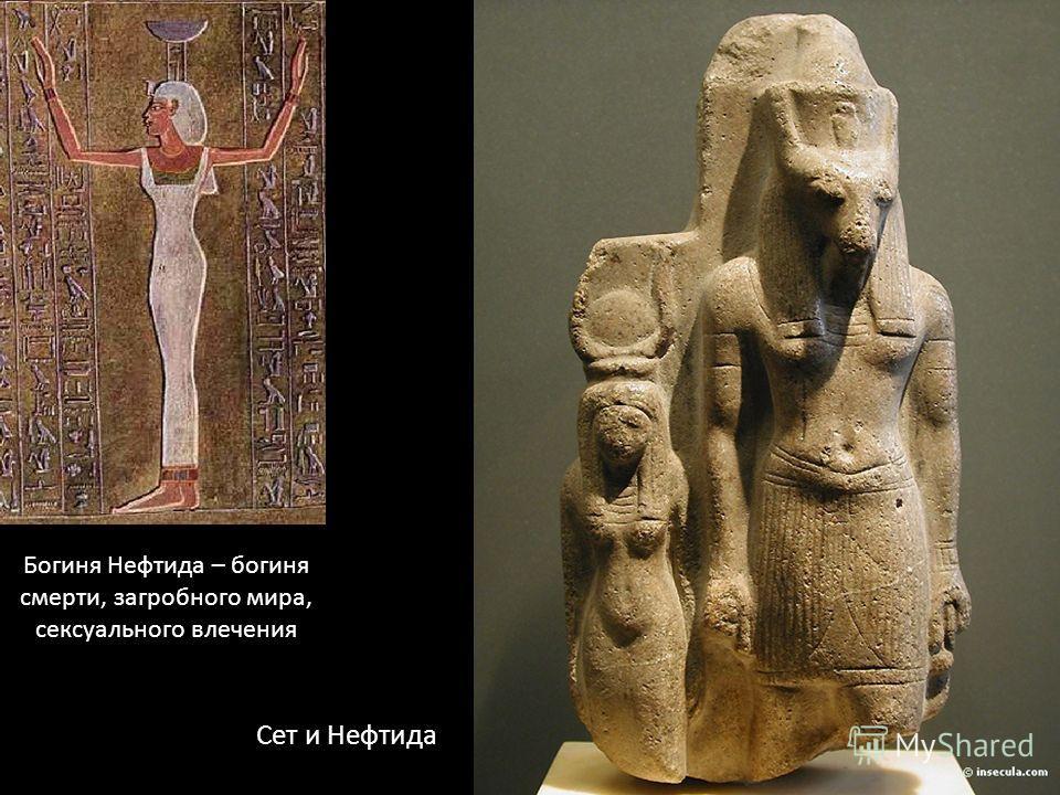 Богиня Нефтида – богиня смерти, загробного мира, сексуального влечения Сет и Нефтида