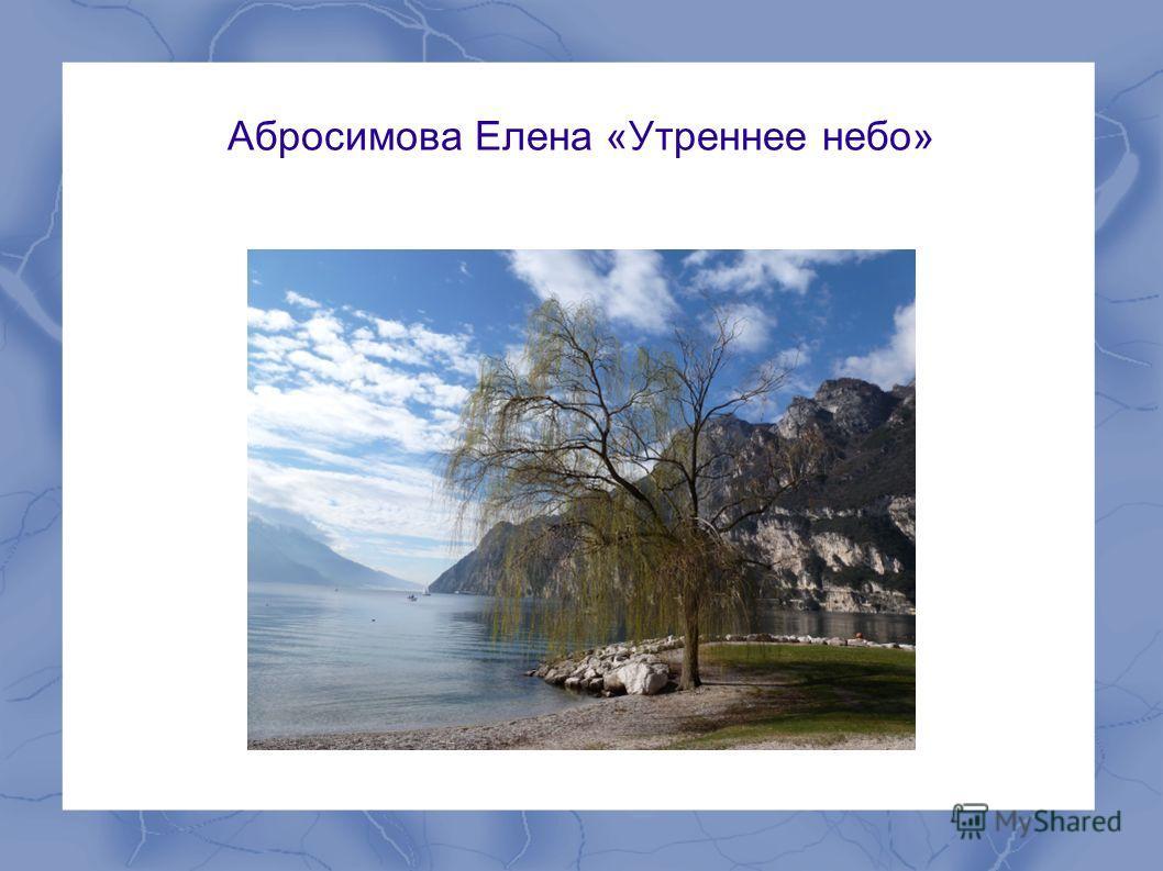 Абросимова Елена «Утреннее небо»