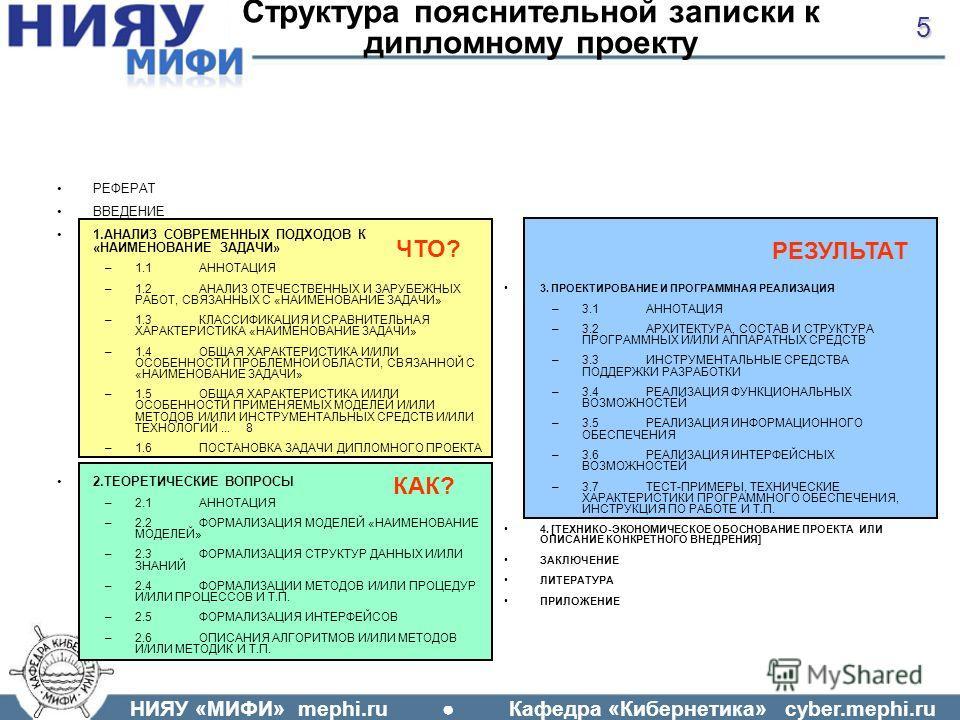 Презентация на тему НИЯУ МИФИ mephi ru Кафедра Кибернетика  5 НИЯУ