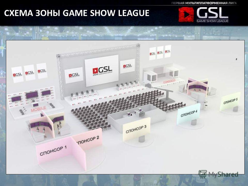 СХЕМА ЗОНЫ GAME SHOW LEAGUE
