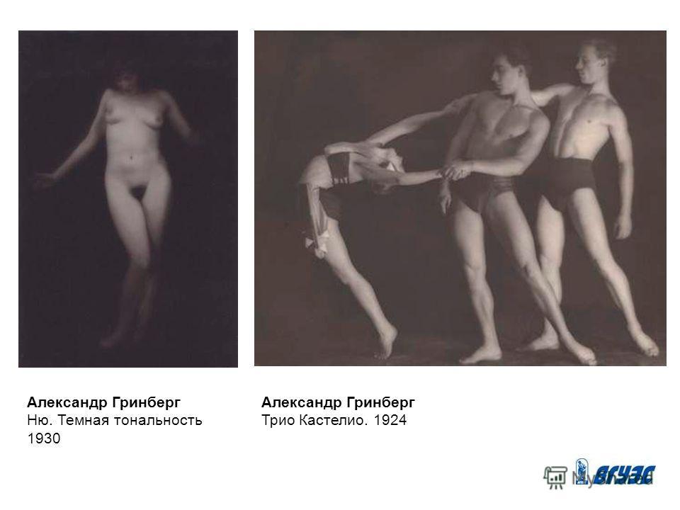 Александр Гринберг Ню. Темная тональность 1930 Александр Гринберг Трио Кастелио. 1924