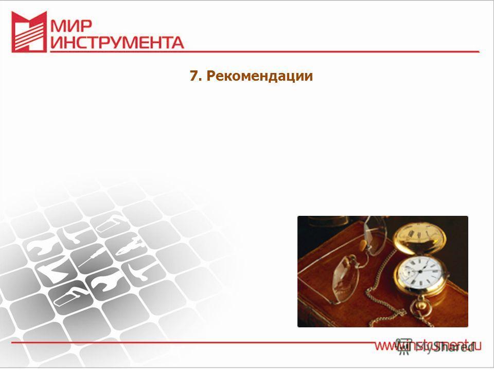 7. Рекомендации