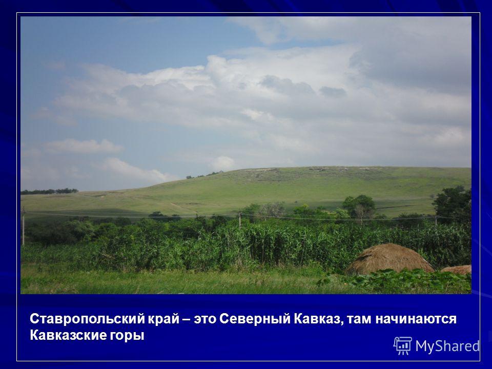 Ставропольский край – это Северный Кавказ, там начинаются Кавказские горы