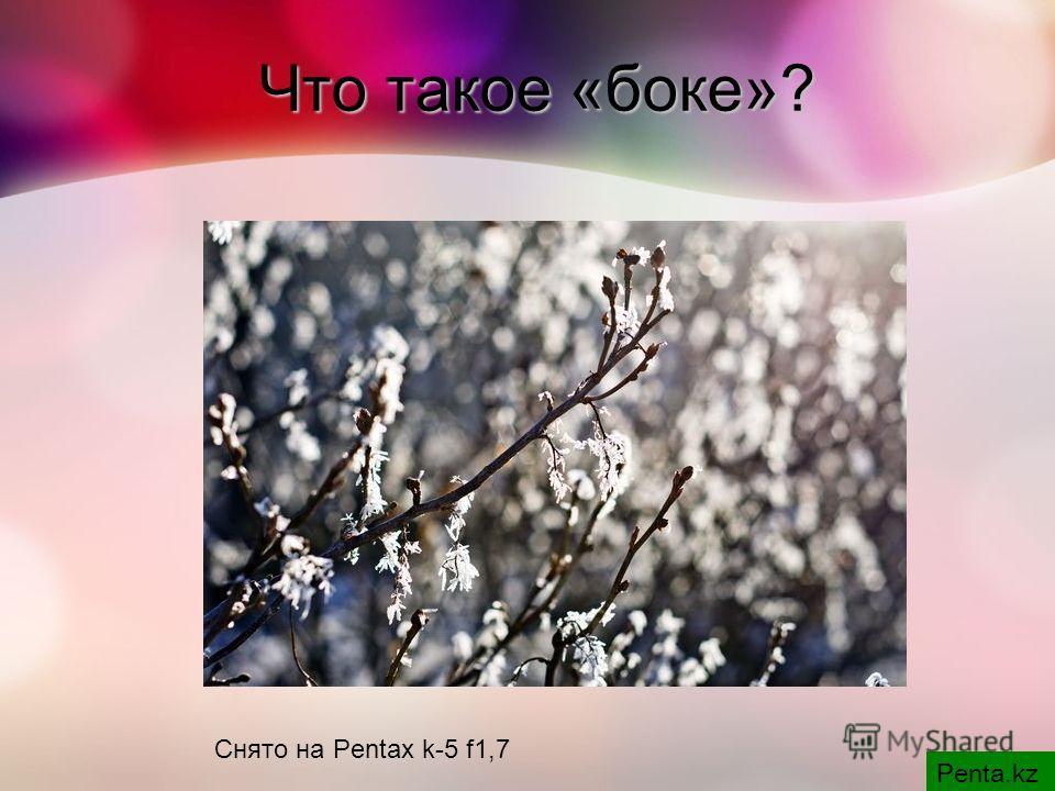 Снято на Pentax k-5 f1,7 Что такое «боке»?