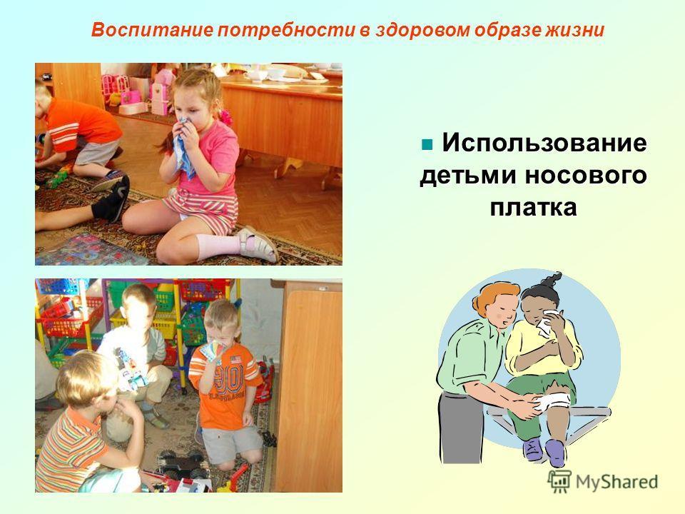 Использование детьми носового платка Использование детьми носового платка Воспитание потребности в здоровом образе жизни
