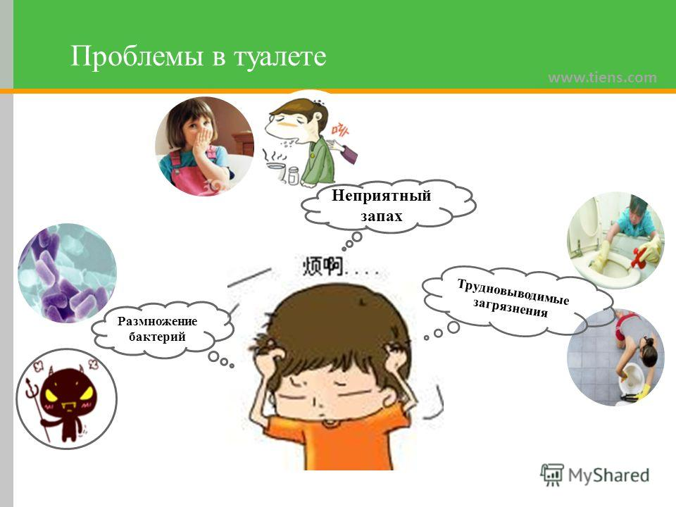 www.tiens.com Проблемы в туалете Неприятный запах Трудновыводимые загрязнения Размножение бактерий