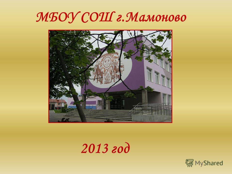 МБОУ СОШ г.Мамоново 2013 год