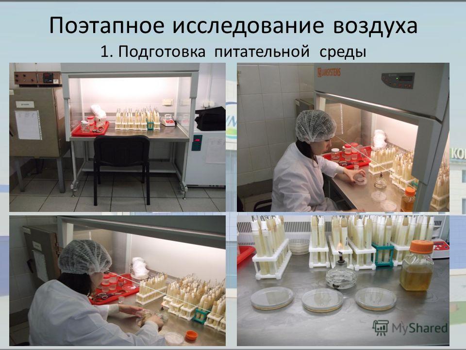 Поэтапное исследование воздуха 1. Подготовка питательной среды