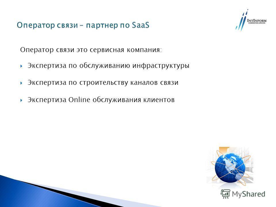 Оператор связи это сервисная компания: Экспертиза по обслуживанию инфраструктуры Экспертиза по строительству каналов связи Экспертиза Online обслуживания клиентов