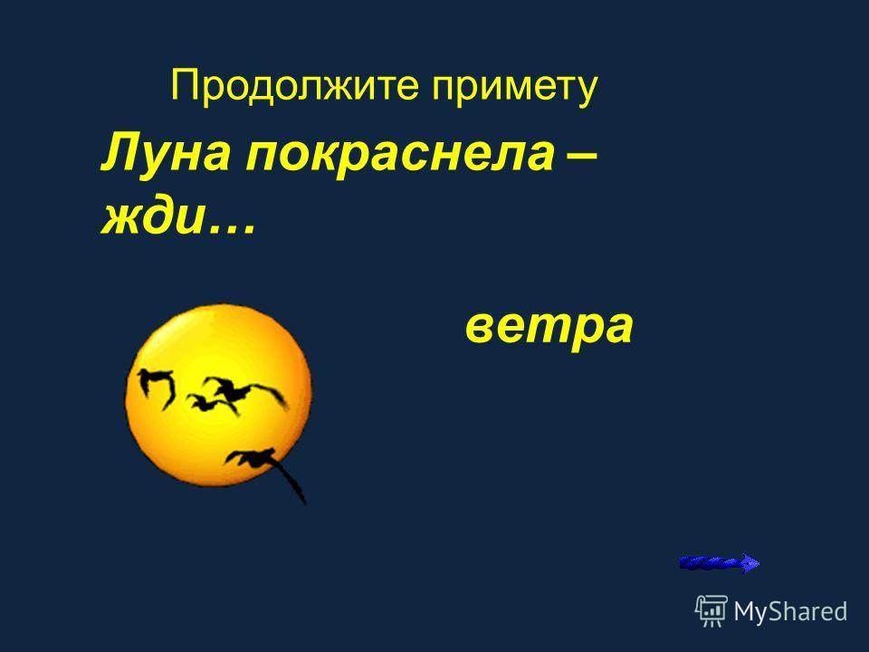 Радужный круг около луны…. Продолжите примету К ненастью