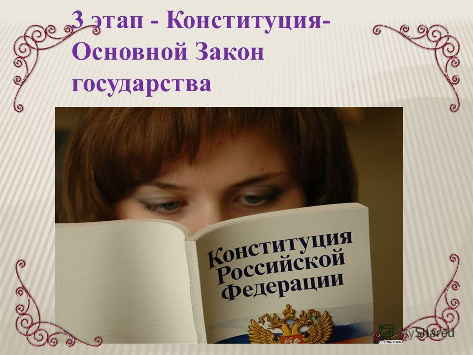 3 этап - Конституция- Основной Закон государства
