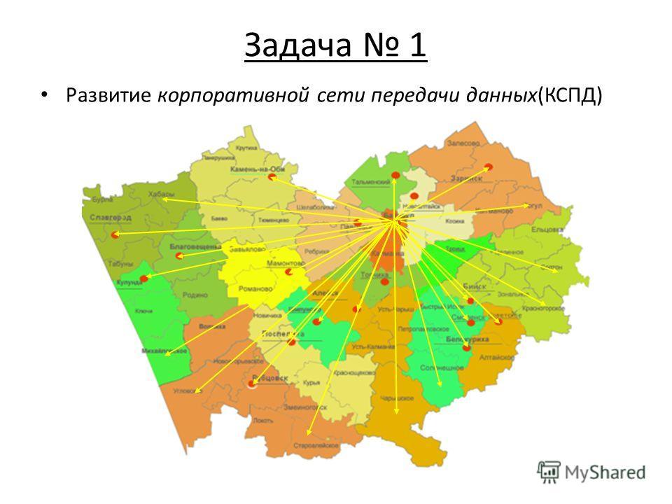 Задача 1 Развитие корпоративной сети передачи данных(КСПД)