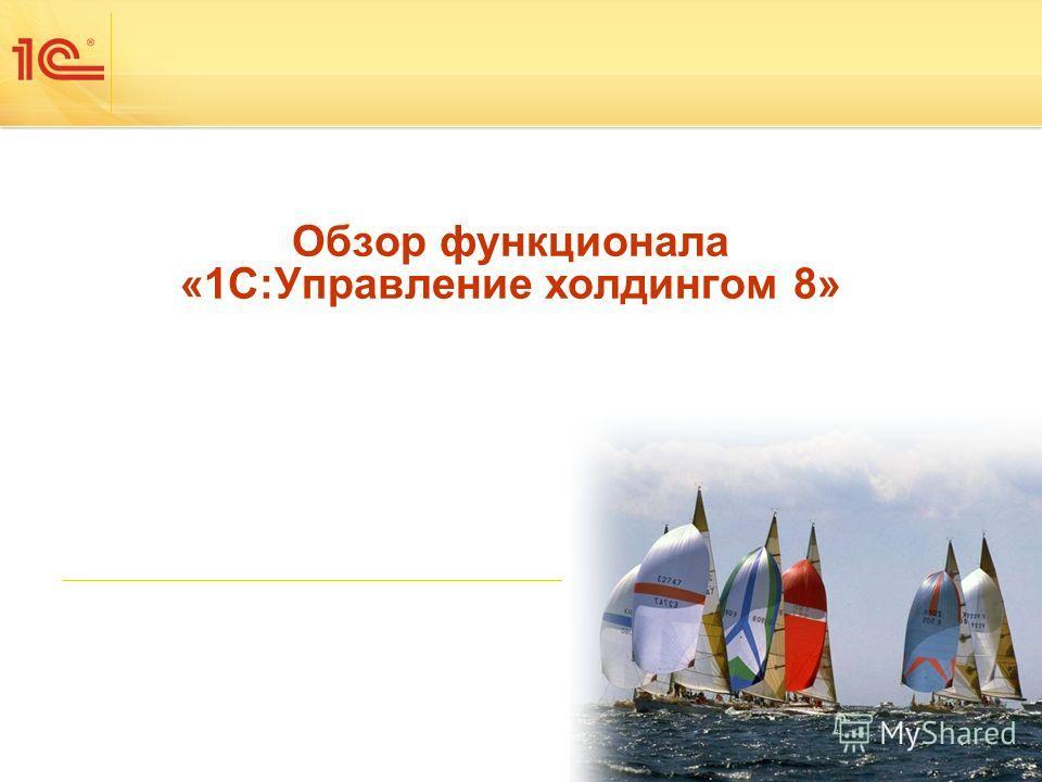 Обзор функционала «1С:Управление холдингом 8»
