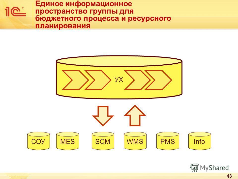 Единое информационное пространство группы для бюджетного процесса и ресурсного планирования 43 УХ MESSCMWMSPMSСОУInfo