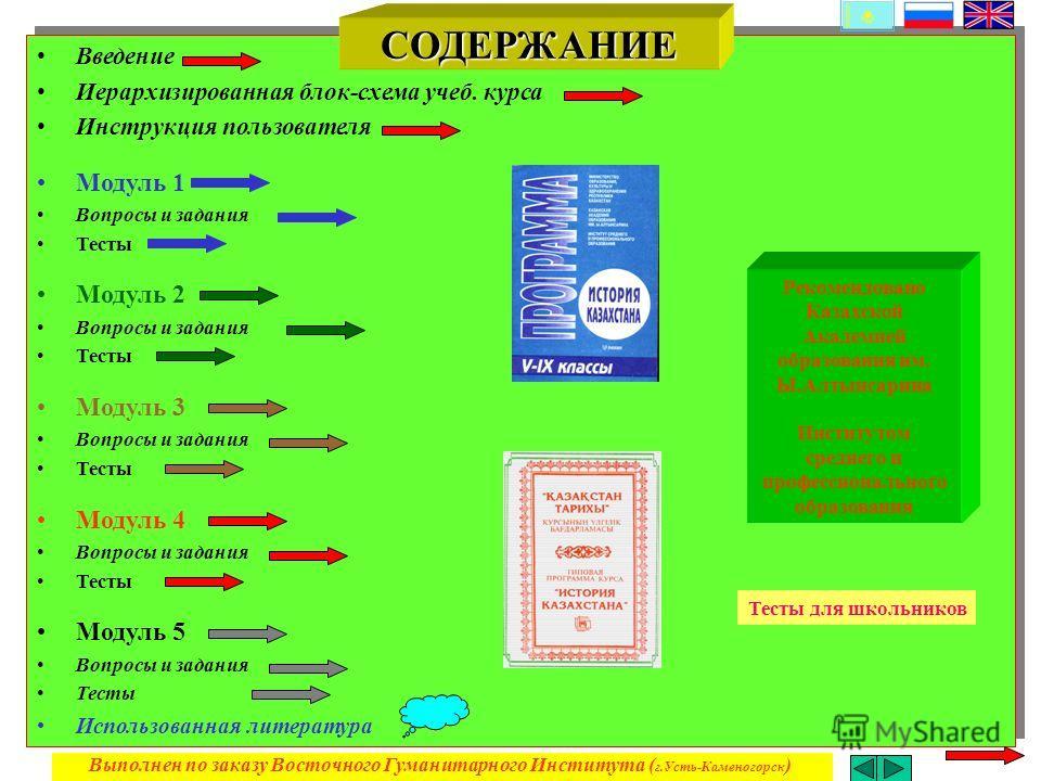 блок-схема учеб. курса