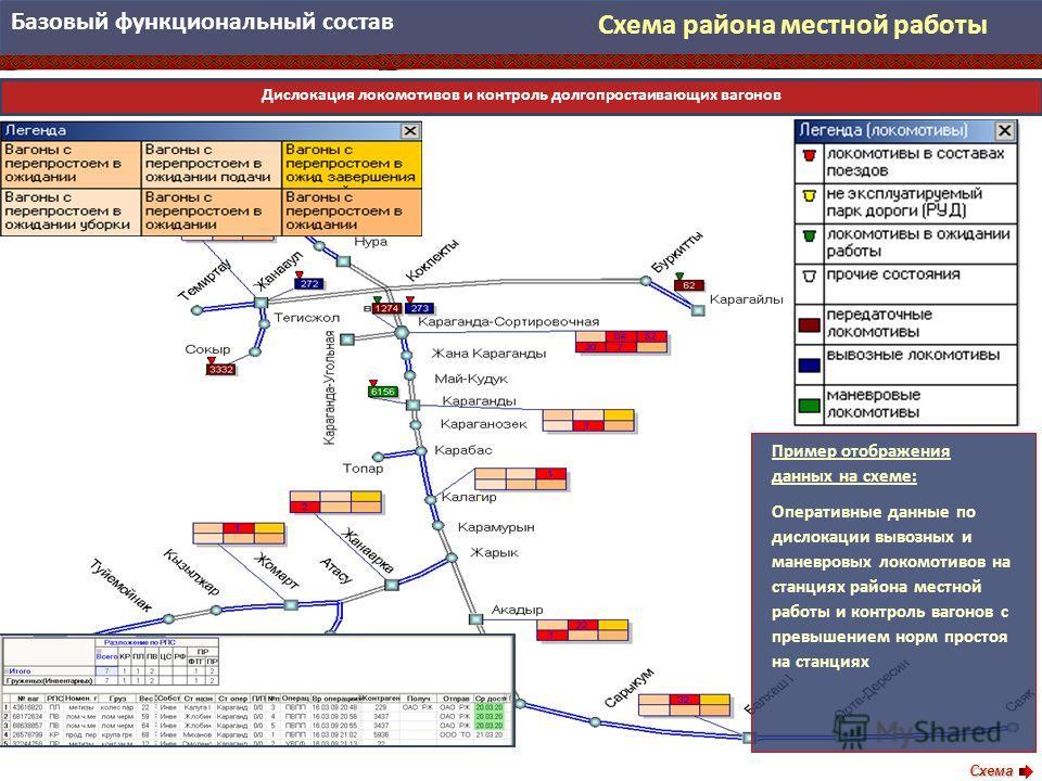 Схема района местной работы