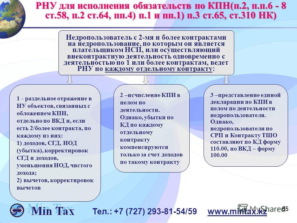 Недропользователь с 2-мя и более контрактами на недропользование, по которым он является плательщиком НСП, или осуществляющий внеконтрактную деятельность одновременно с деятельностью по 1 или более контрактам, ведет РНУ по каждому отдельному контракт