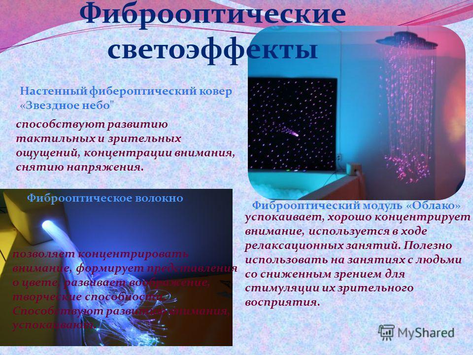 Фиброоптические светоэффекты Настенный фибероптический ковер «Звездное небо
