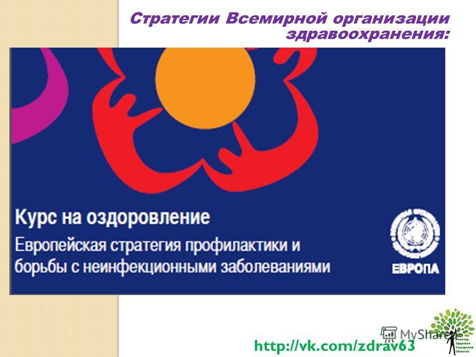 Стратегии Всемирной организации здравоохранения: http://vk.com/zdrav63