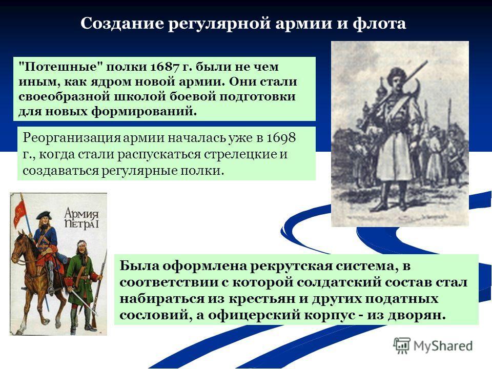 Создание регулярной армии и флота