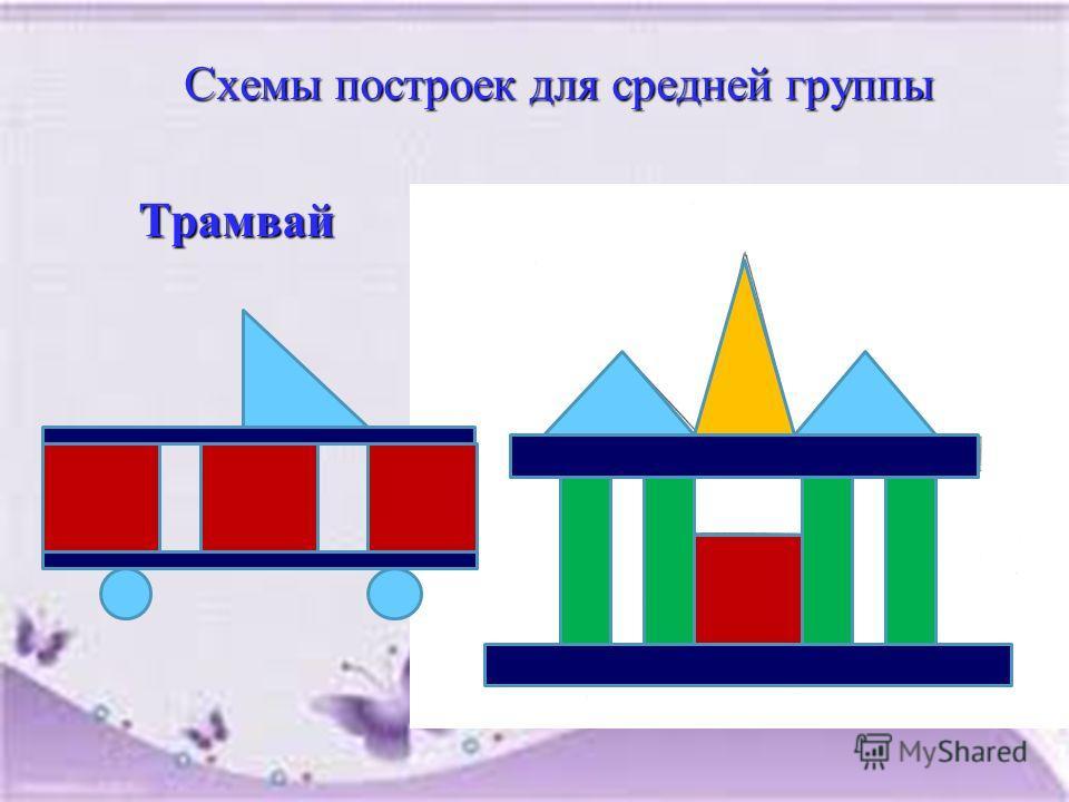 Схемы построек для средней группы Схемы построек для средней группы Трамвай Трамвай