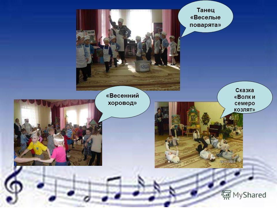 Танец «Веселые поварята» «Весенний хоровод» Сказка «Волк и семеро козлят»
