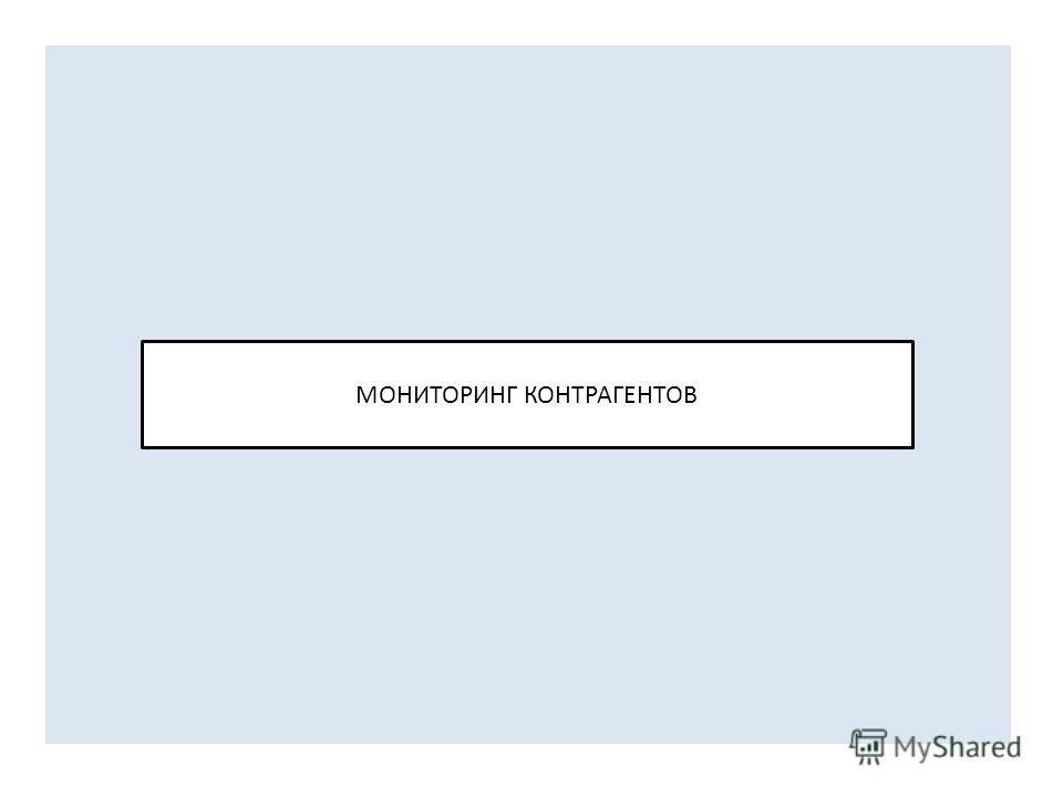 МОНИТОРИНГ КОНТРАГЕНТОВ