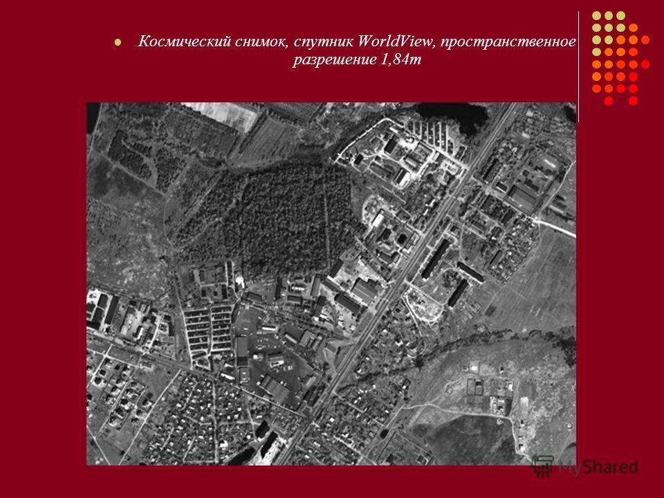 Космический снимок, спутник WorldView, пространственное разрешение 1,84m