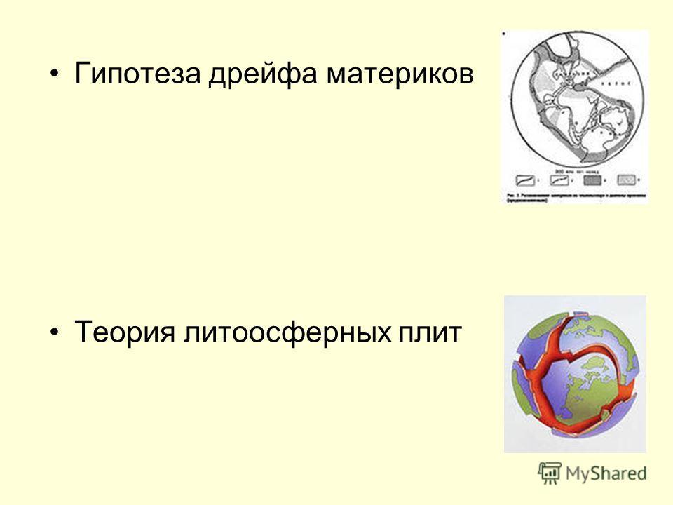 Гипотеза дрейфа материков Теория литоосферных плит