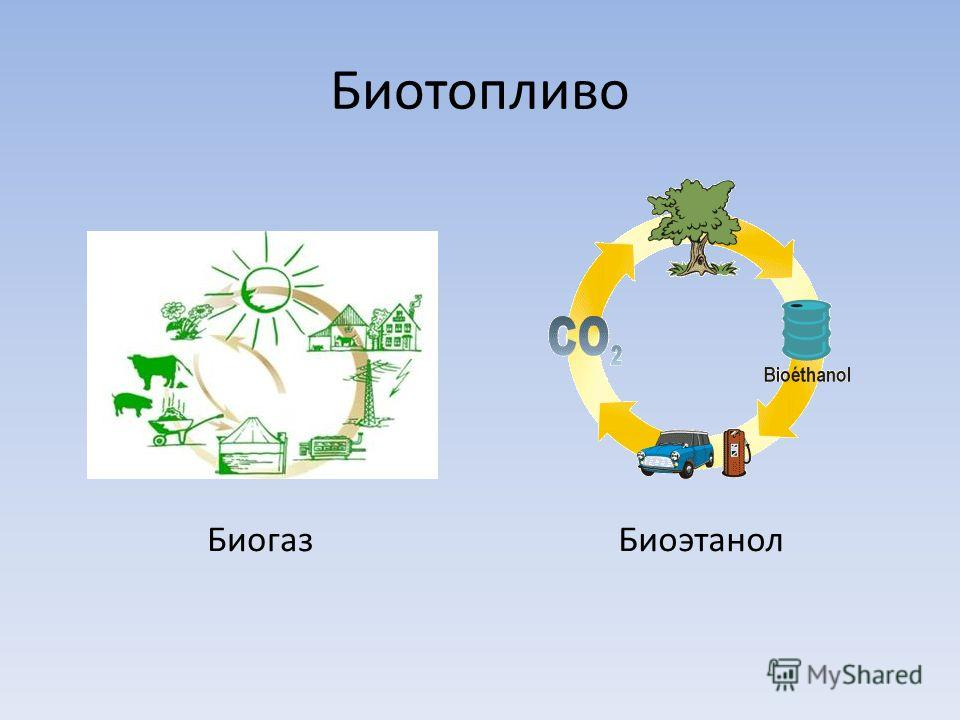 Биотопливо Биогаз Биоэтанол