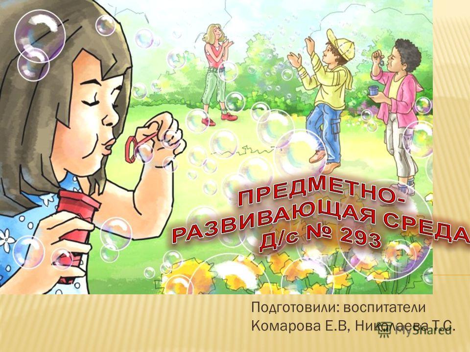 Подготовили: воспитатели Комарова Е.В, Николаева Т.С.