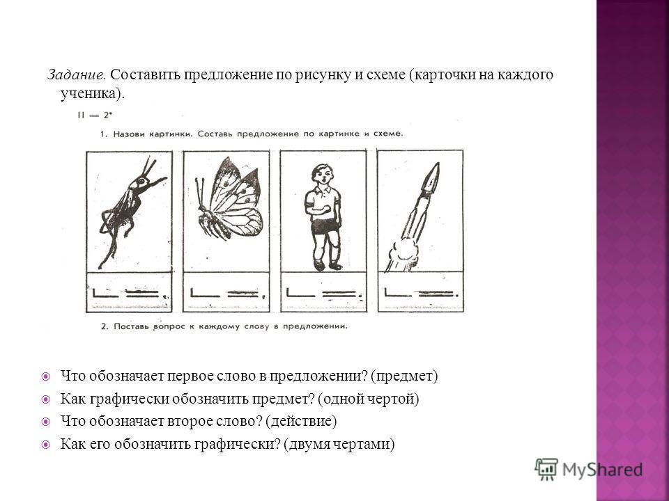 Схемы предложений по русскому языку 2 класс.
