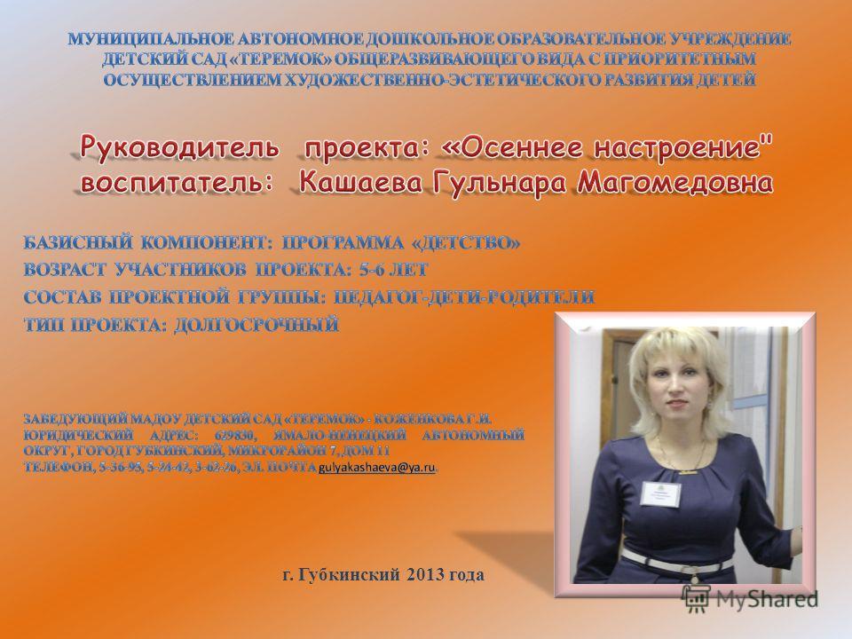 г. Губкинский 2013 года