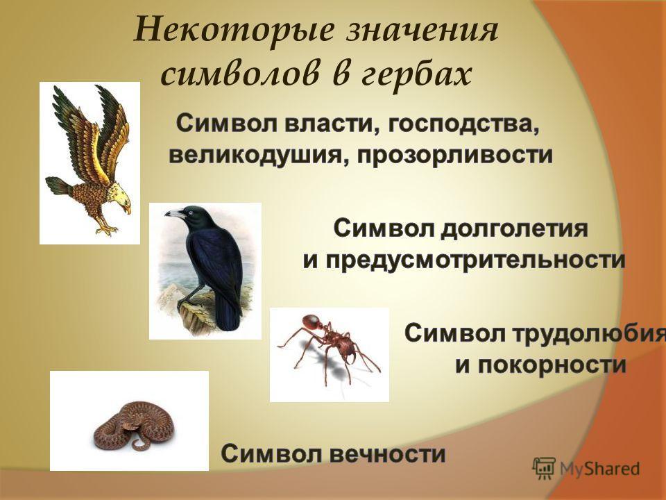 Некоторые значения символов в гербах