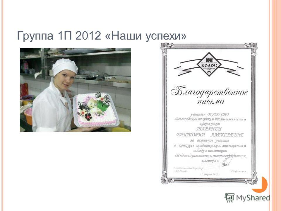 Группа 1П 2012 «Наши успехи»