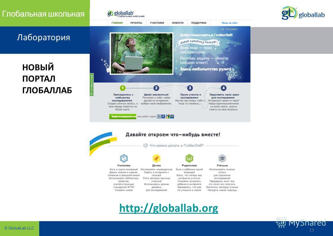 13 © GlobalLab LLC Глобальная школьная Лаборатория 13 http://globallab.org НОВЫЙ ПОРТАЛ ГЛОБАЛЛАБ
